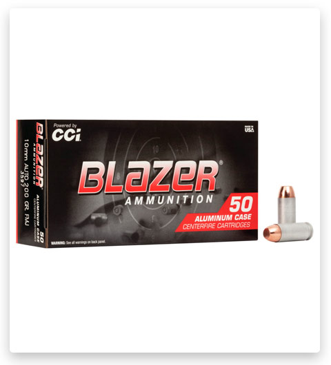 CCI Blazer Aluminum 10mm Auto Ammo 200 grain