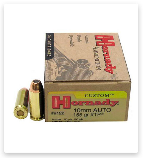 Hornady Custom 10mm Auto Ammo 155 Grain