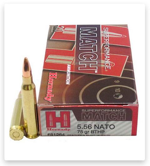 Hornady Superformance 5.56x45mm NATO Ammo 75 Grain