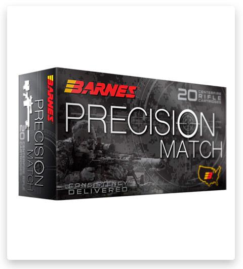 Barnes Precision Match 5.56x45mm NATO Ammo 85 grain