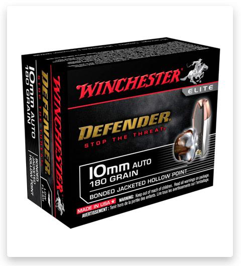 Winchester DEFENDER 10mm Auto Ammo 180 grain