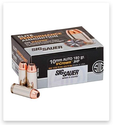 Sig Sauer Elite V-Crown 10mm Auto Ammo 180 grain