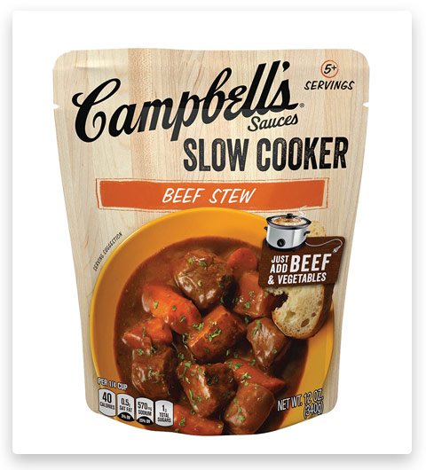 Campbell's Slow Cooker Sauces Canned Beef Stew
