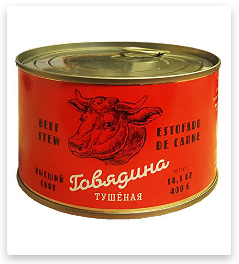 Beef Stew Canned ( 14.1 Ounce / 400 Gram ) Tushonka
