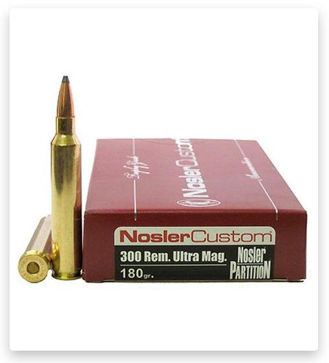 Nosler Custom 300 Remington Ultra Magnum Ammo 180 Grain