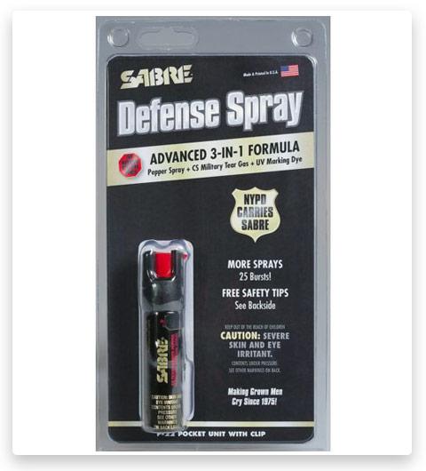 Sabre 3-in-1 Compact Pepper Self Defense Spray